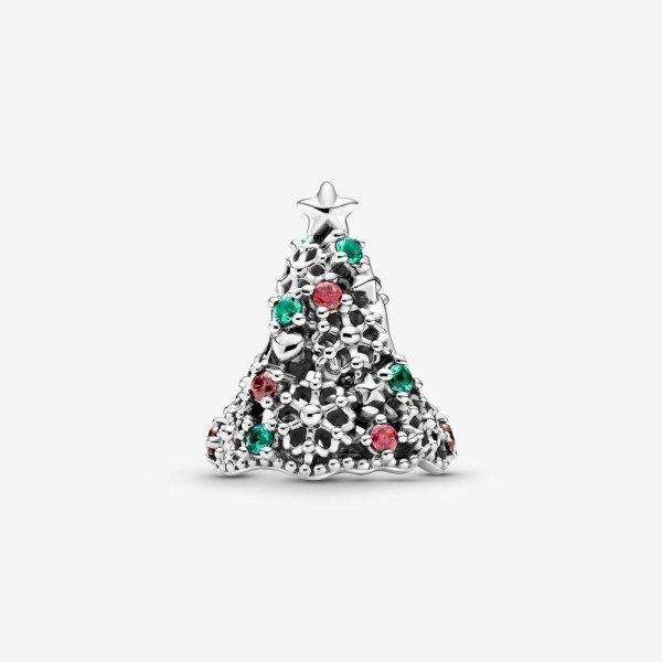 Pandora PANDORA Glitter Christmas Tree Charm - Gemorie