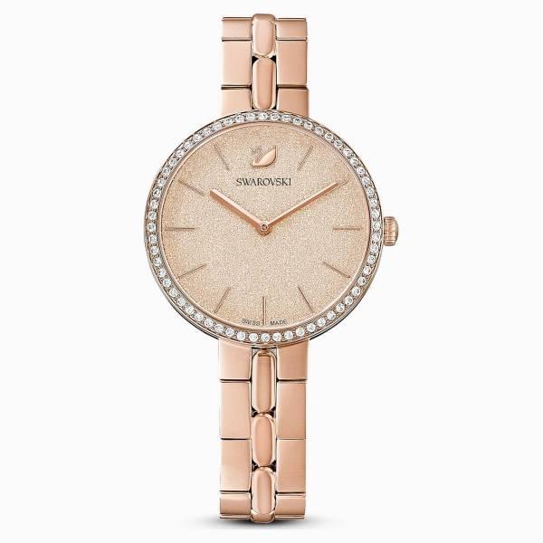Swarovski SWAROVSKI Cosmopolitan Watch & Metal Bracelet - Pink & Rose-Gold Tone - Gemorie