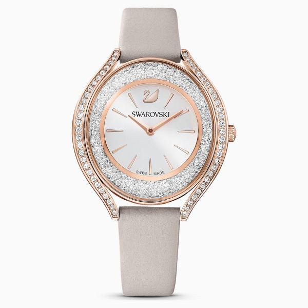 Swarovski SWAROVSKI Crystalline Aura Watch - Gray & Rose-Gold Tone PVD - Gemorie