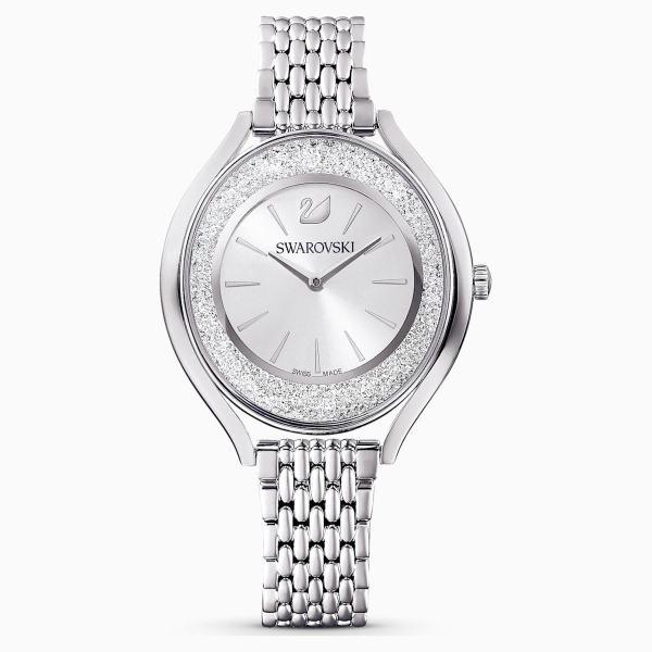 Swarovski SWAROVSKI Crystalline Aura Watch & Metal Bracelet - Silver Tone & Stainless Steel - Gemorie