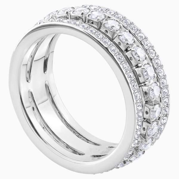 Swarovski SWAROVSKI Further Size 50 Ring - White & Rhodium - Gemorie