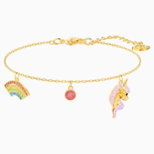 Swarovski SWAROVSKI Out Of This World Unicorn Bracelet - Multicolor and Gold Tone Plated - Gemorie
