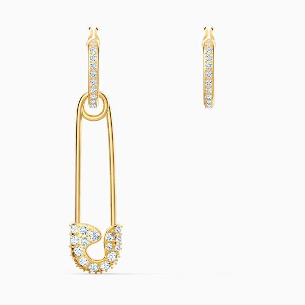 Swarovski SWAROVSKI So Cool Pin Pierced Earrings - White & Gold-Tone Plated - Gemorie