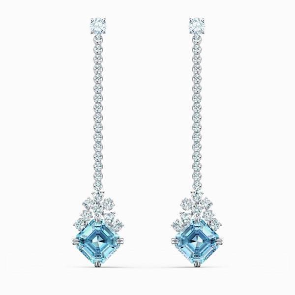 Swarovski SWAROVSKI Sparkling Linear Pierced Earrings - Blue - Gemorie
