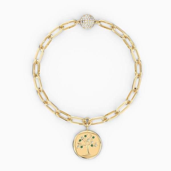 Swarovski SWAROVSKI The Elements Tree Bracelet - Green & Gold-Tone Plated - Gemorie