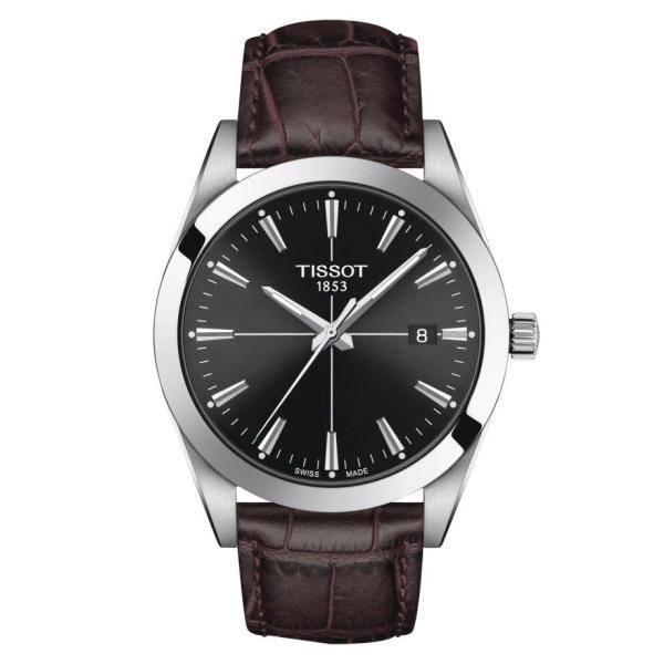 Tissot TISSOT Gentleman Round Renata 371 Battery Men's Watch - Brown - Gemorie