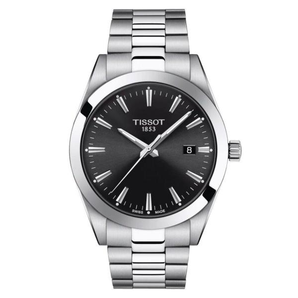 Tissot TISSOT Gentleman Round Swiss Quartz Men's Watch - Stainless Steel - Gemorie