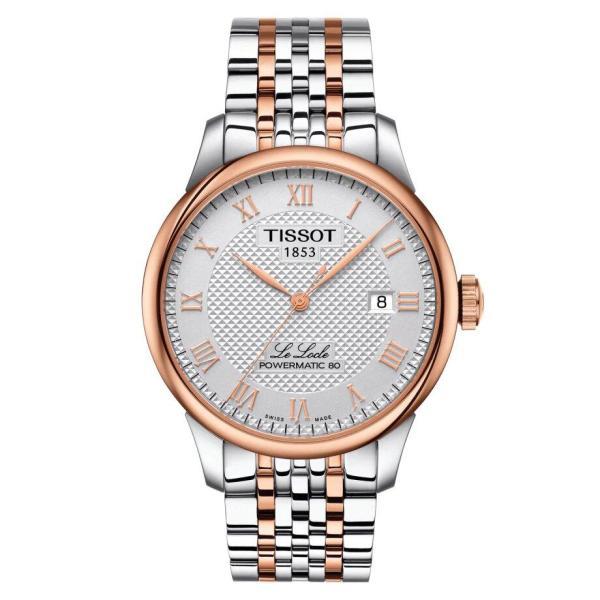 Tissot TISSOT Le Locle Powermatic 80 Men's Watch - Rose Gold & Stainless Steel - Gemorie