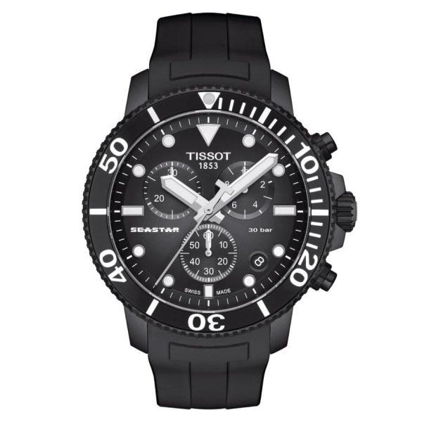 Tissot TISSOT Seastar 1000 Chronograph Anti-Reflective Sapphire Crystal Watch - Black - Gemorie