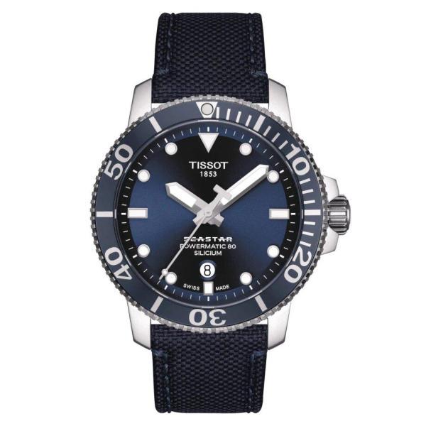 Tissot TISSOT Seastar 1000 Powermatic 80 Silicium Men's Watch - Black - Gemorie