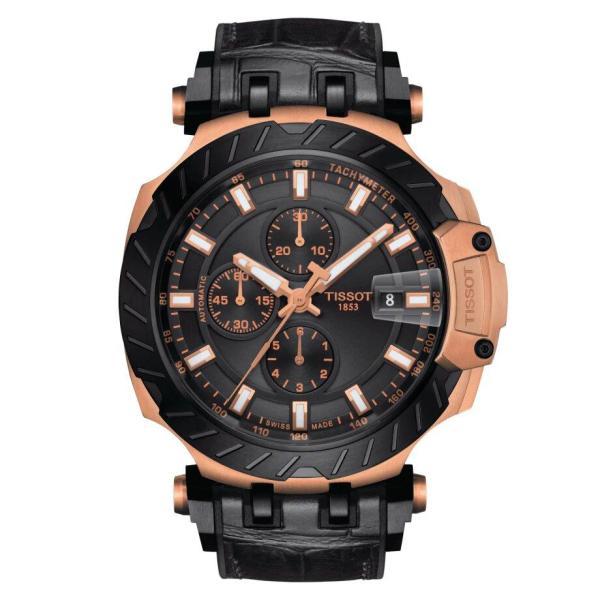 Tissot TISSOT T-Race Automatic Chronograph Men's Watch - Black - Gemorie