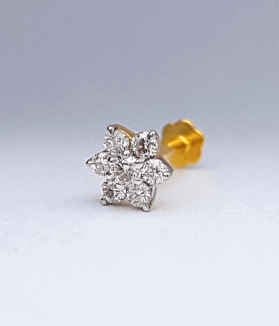 ৭ দানা হীরার বা ডায়মন্ডের নাকফুল - 7 Stone Diamond Nose Pin