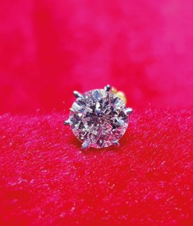 Diamond Solitaire Nose Pin - Gems Jewellers & Gems Stone