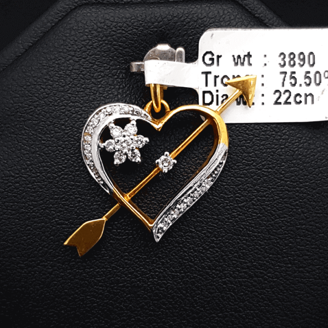 Diamond Pendant Or Locket - ডায়মন্ড বা হীরার লকেট বা পেন্ডেন্ট - Gems Jewellers & Gems Stone