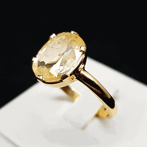 An Original Natural Best Quality Sri Lankan or Siloni or Ceylon Yellow Sapphire or Pokhraj Stone Price In Bangladesh - অরিজিনাল শ্রীলঙ্কান বা সিলোনি পোখরাজ পাথরের দাম