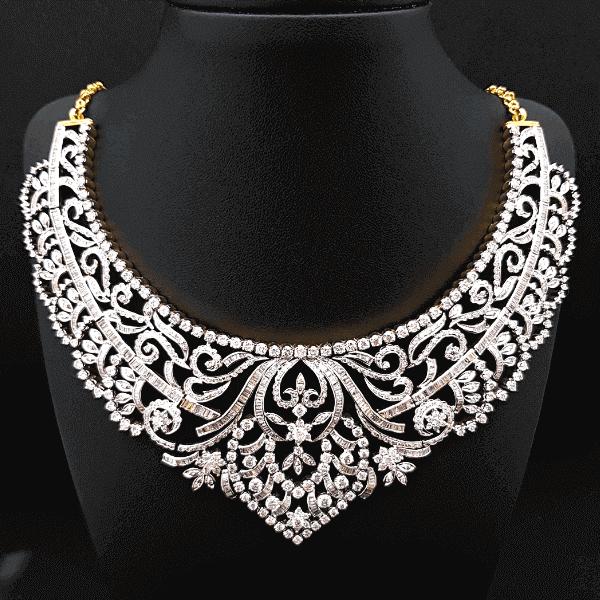 Traditional Latest Diamond Necklace Design & Price In Bangladesh - ডায়মন্ড বা হীরার নেকলেসের ডিজাইন ও দাম