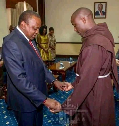 Uhuru Kenyatta and Peter Tibichi