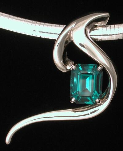 emerald designer pendant