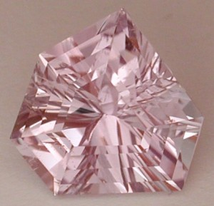kunzite with concave faceting
