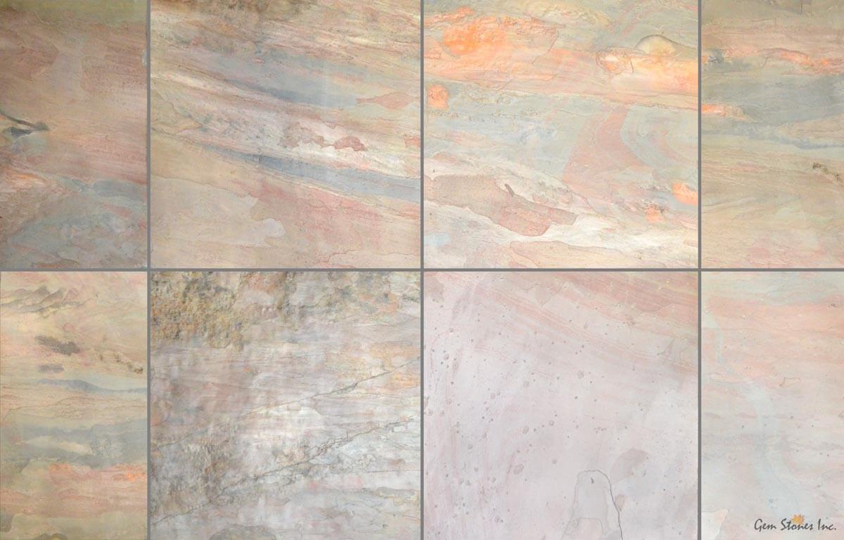 copper pink slate tile