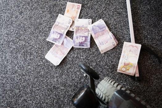 money on floor