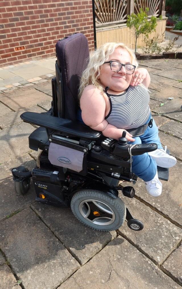 Gem Turner in Wheelchair