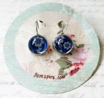 New Blue Floral Earrings @ $9.90