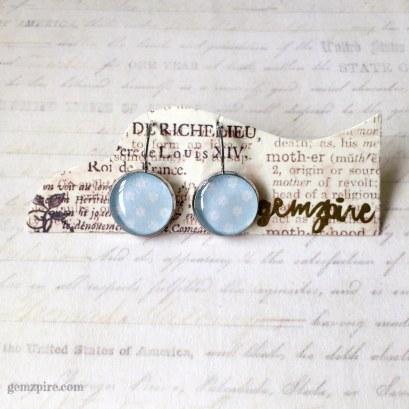 Baby Blue Floral Dangling Earrings @ $12.90