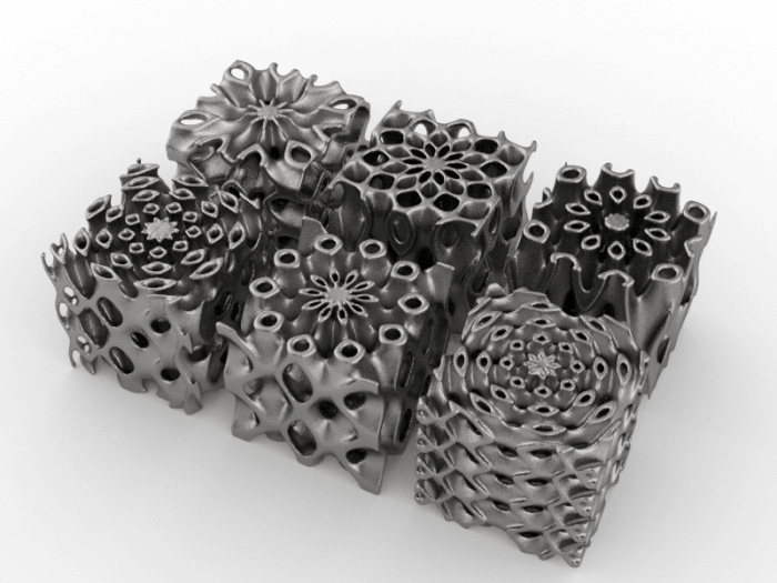Heat Sink Lattices made with additive manufacturing