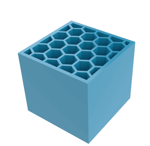 An example of a planar lattice structure - types of lattices for additive manufacturing
