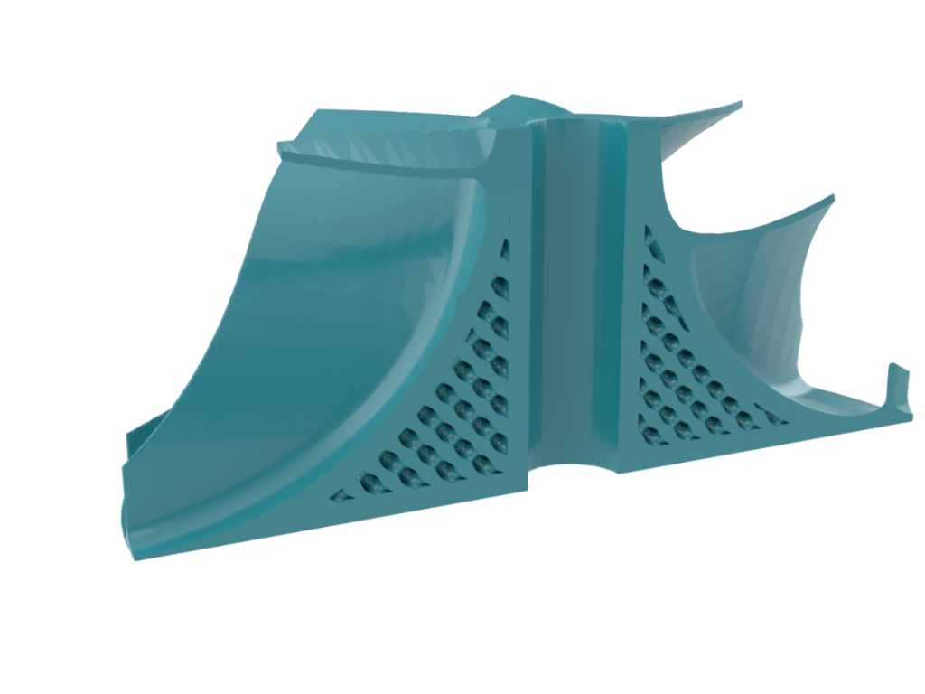 impeller with lattice infill