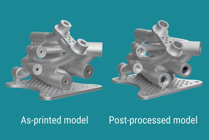 As-printed vs Post-processed model