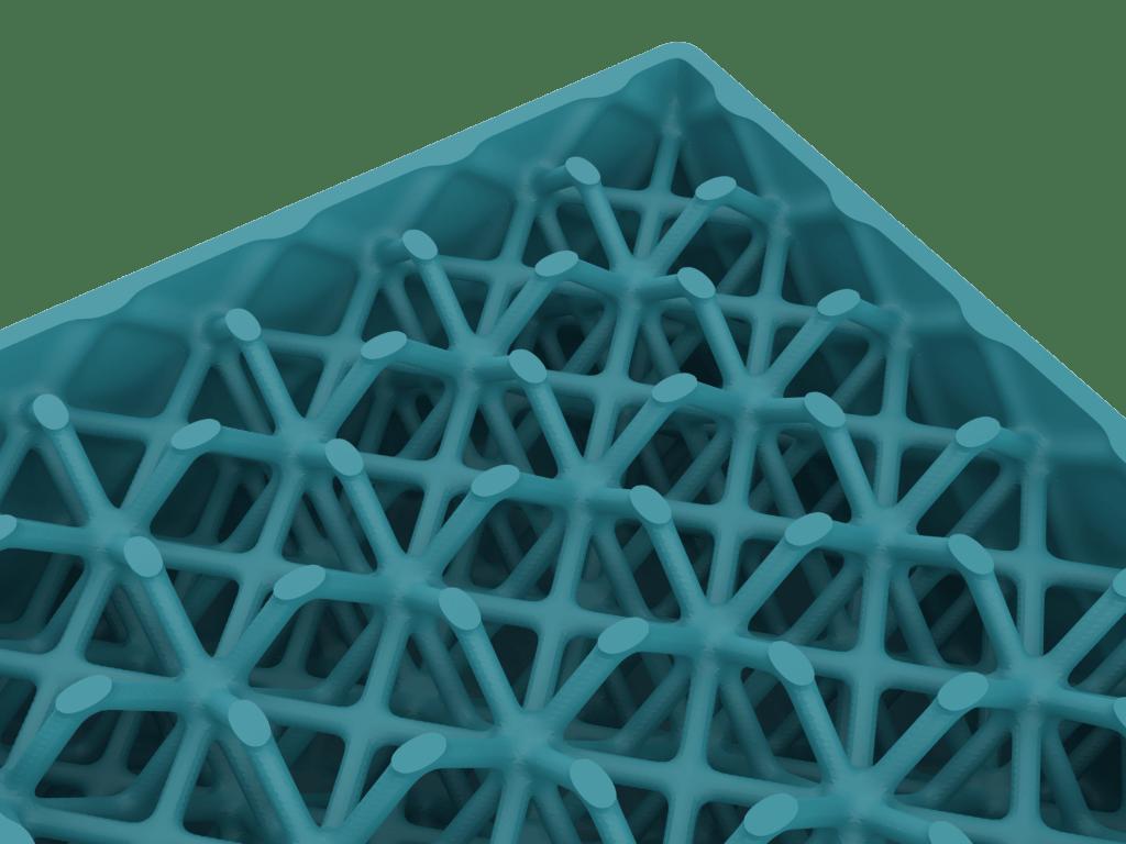 Smooth and blend strut lattice designed using our lattice module