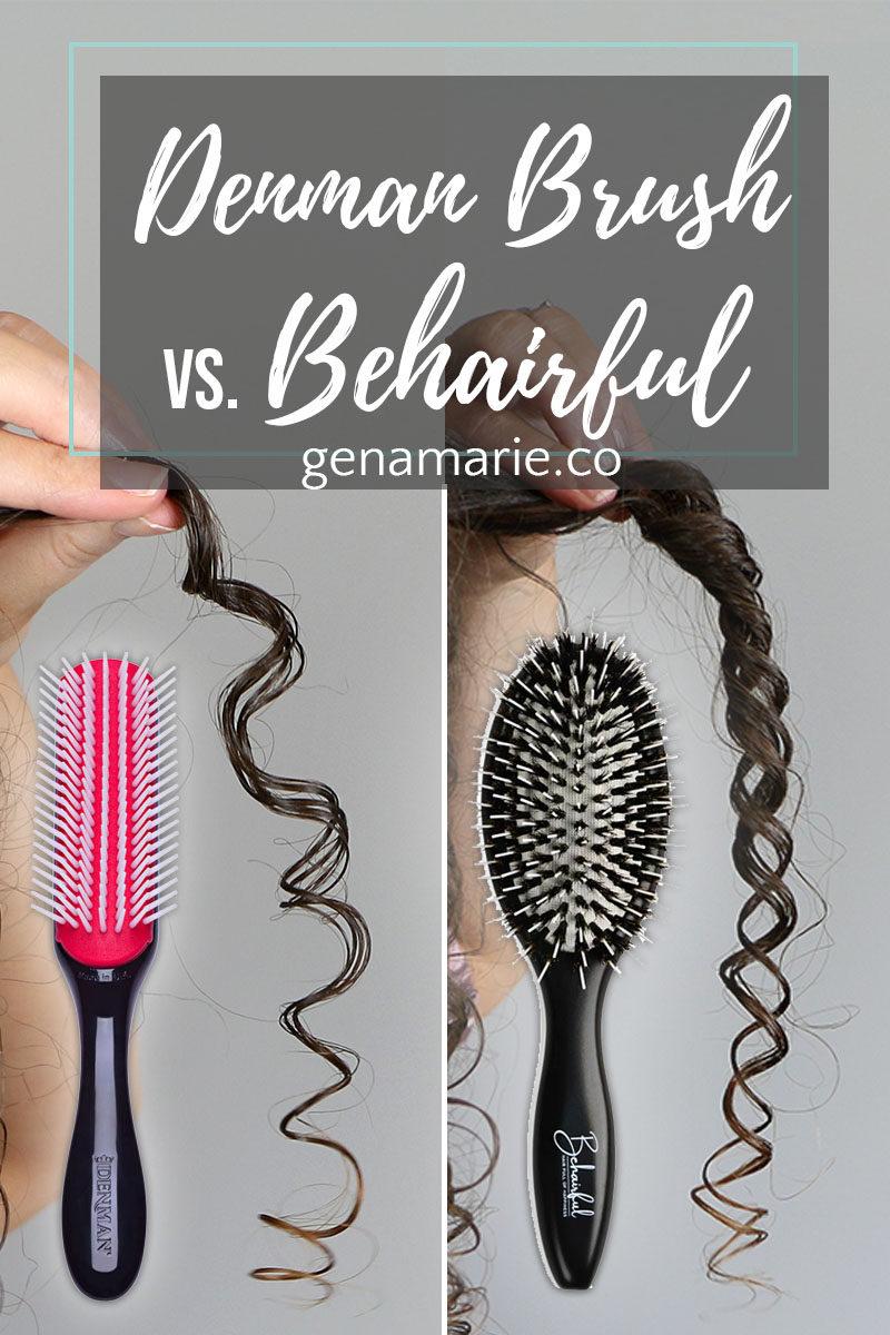 Denman Brush Vs Behairful Brush Compared Gena Marie