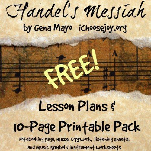 Handel's Messiah 10-Page Printable Pack Freebie