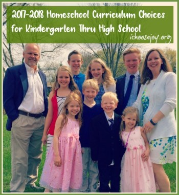 2017-2018 Homeschool Curriculum Choices for Kindergarten Thru High School. Get ideas for math, science, language arts, music, art, foreign language, government, physical education, and more