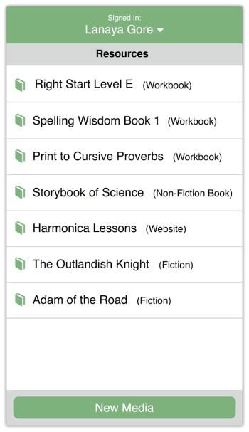 Flexible School Schedule homeschool app resources