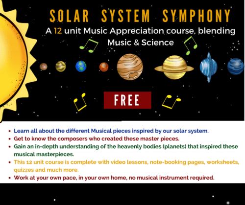 Take a look at The Solar System Symphony, an online course that combines learning about astronomy with music