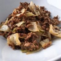 Hackfleisch-Pfanne mit Weißkohl | Low Carb