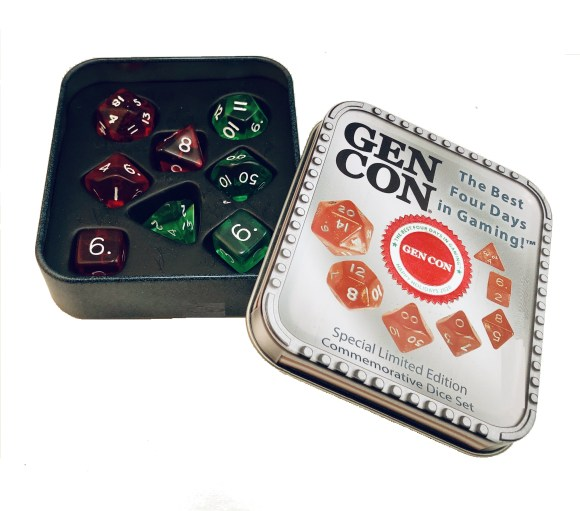 Holiday Dice Set from Crystal Caste