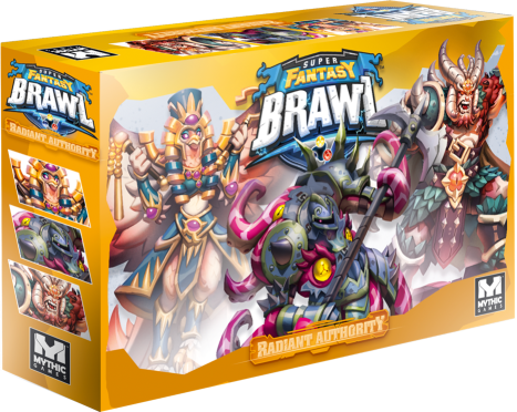 Box for Radiant Authority, an expanded set of characters for Super Fantasy Brawl