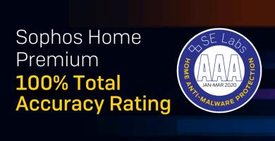 O anti-rasomware Intercept x recebe o selo Prmium Scored