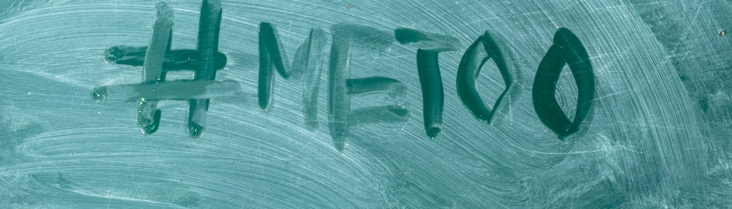 """#MeToo"" written on chalkboard"