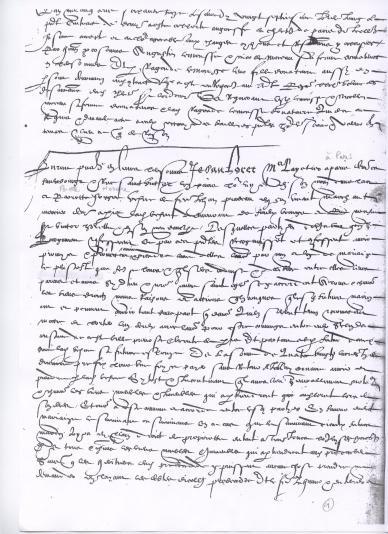 insinuation Chatelet Jehan LORET X Pierrette HONGRE 1565