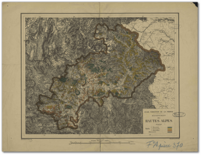 Atlas forestier de la France : département des Hautes-Alpes, 1889 [Document cartographique]