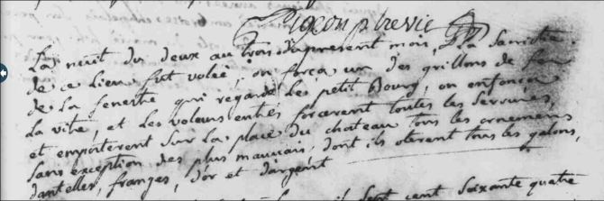 vol à l'église 1764 les herbiers 85