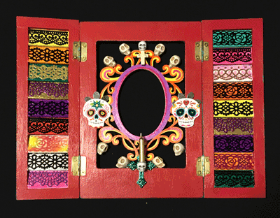 Photo of decorated frame.