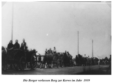Evacuation of Berg during the war