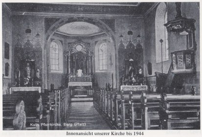 Interior of the old pre-war St. Bartholomew Church
