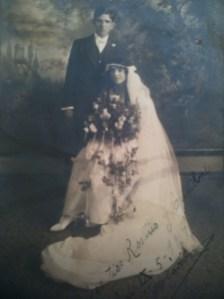 Wedding of José María Dávila (1897-?) and Enriqueta Goldbaum (1900-?)